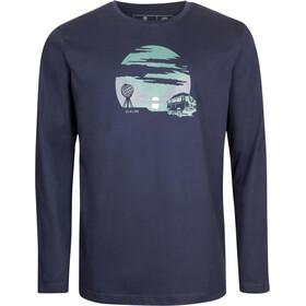 Elkline Polar Circle Camiseta Manga Larga Hombre, blueshadow